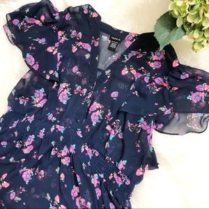 TORRID Butterfly Floral Chiffon Blouse